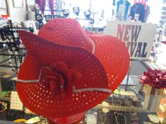 Red Straw Hat #2759