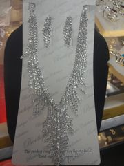 Rhinestone Necklace Set #2785