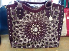 Purple Rhinestone Purse #2811