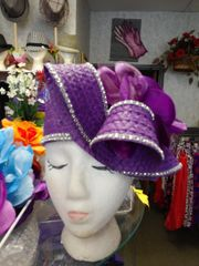 Purple Passion Straw Hat #2841