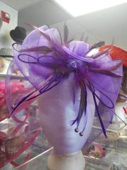 Purple Fascinator #2886
