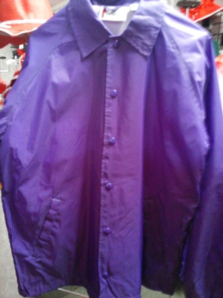 Purple Lined Windbreaker Jacket #1346