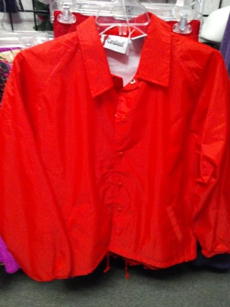 Red Lined Windbreaker Jacket #1347