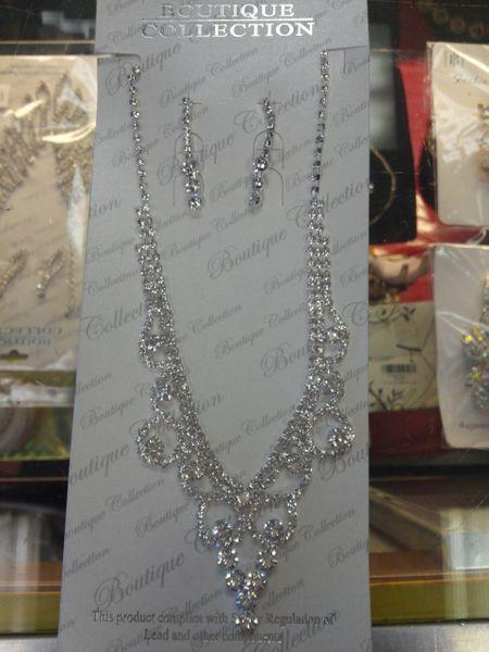 Rhinestone Necklace Set #3161
