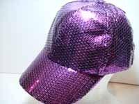 Purple Sequin Ball Cap 3311