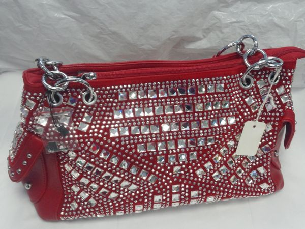 Red Rhinestone Purse #3221