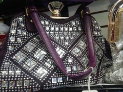Purple Rhinestone Purse #3236