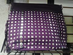 Purple Rhinestone and Sruds Purse #3237