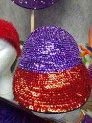 Red/Purple Sequin Cap #3630
