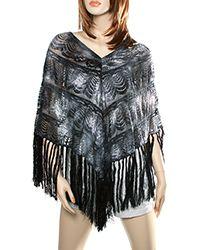 Black Lace Poncho #3770