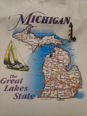 Michigan Map Shirt #5100