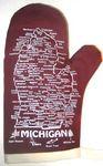 Burgundy Michigan Mitten #5700