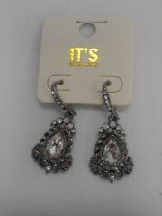 Antique Rhinestone Earrings 5816