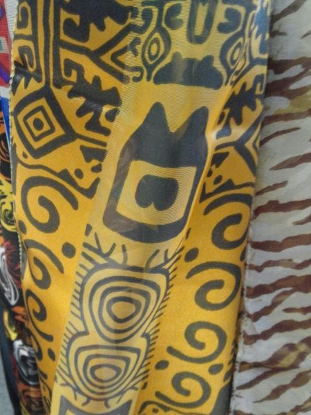 Black and Yellow Aztec Scarf 5846