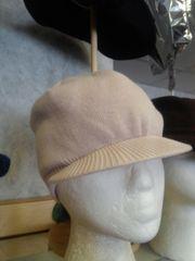 Tan Knit Cap with Visor #3520