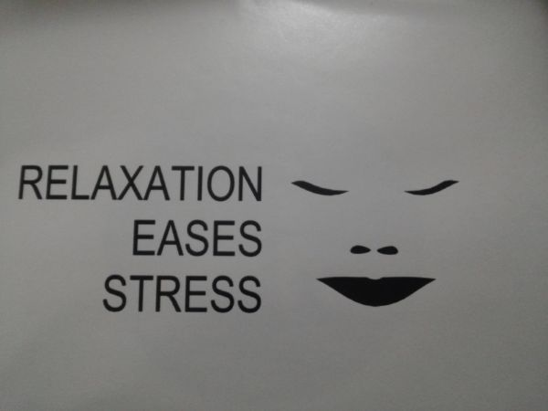 Relaxation Eases Stress Button #1937