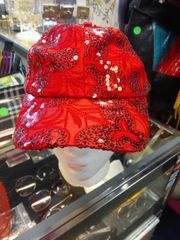 Red Cap w Sequin 5998