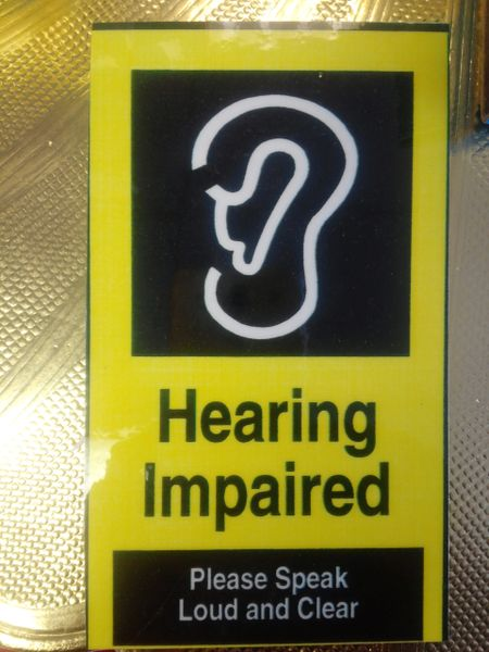 Hearing Impaired Sign 1941
