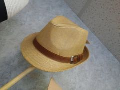 Tan Fedora with Buckle M14