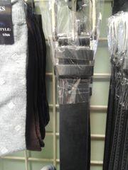 Black Solid Men Belt M31