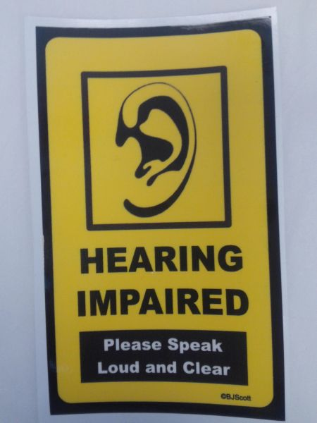 Hearing Impaired Sticker #HIS