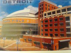 Detroit Ford Field Postcard 1453