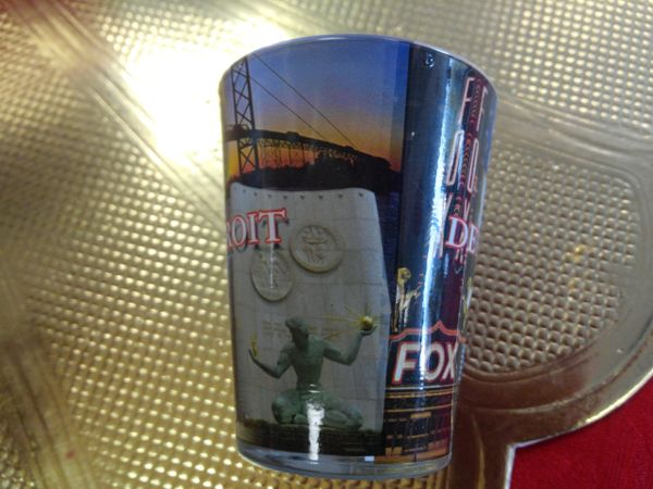 Detroit Collage Shot Glass 1474