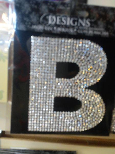 """Bling Letter """"B"""" BLB"""
