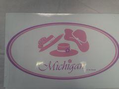 Pink Michigan Window Cling PMWC