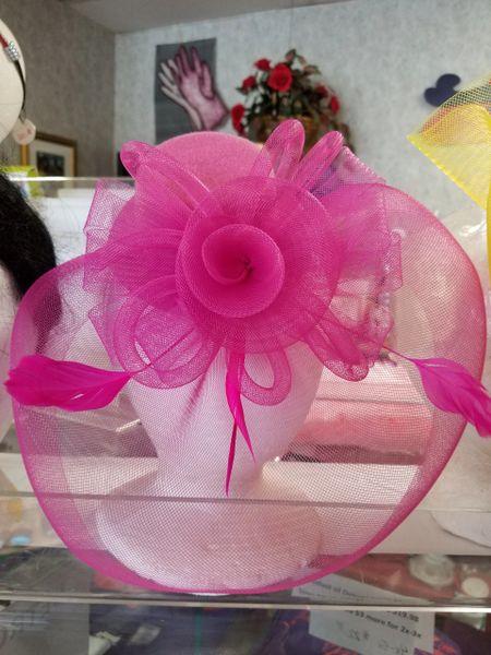Hot Pink Fascinator HPF