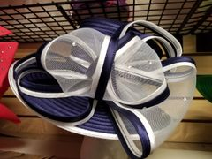 Navy and White Fancy Dress Hat 418196