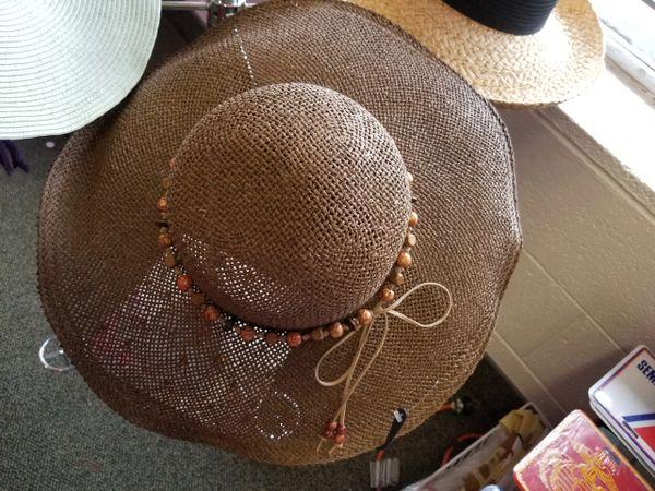 Brown Wide Brim Hat 418234
