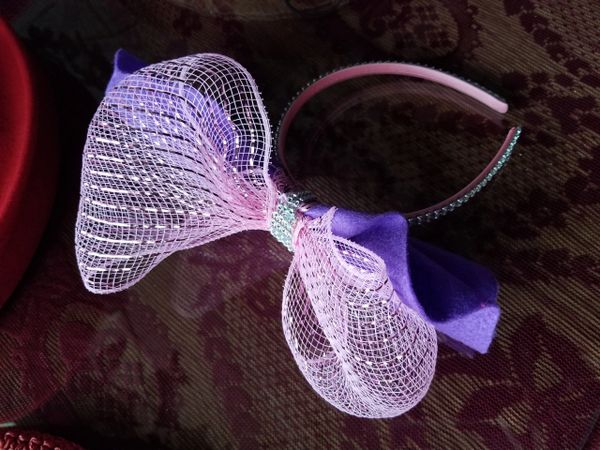 Pink Headband with Stones 418246