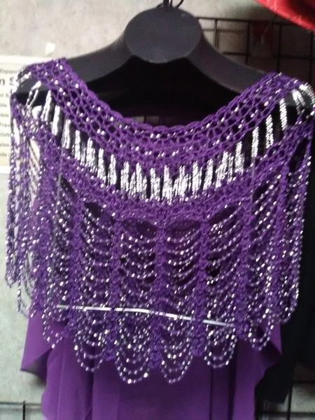 Purple Beaded Shawl PBS