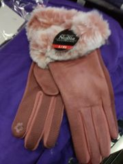 Pink Suede Touch Screen Gloves PSU