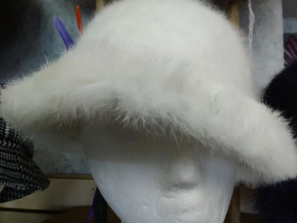 White Fluffy Fur Hat WFF