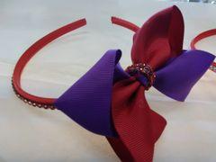Red and Purple Bow Headband RPR