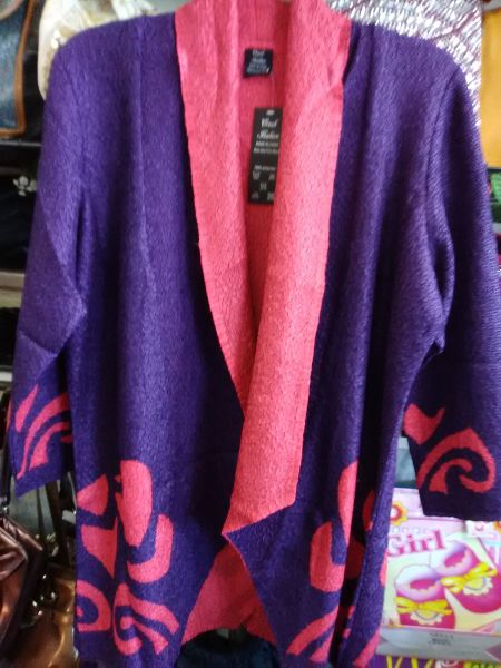 Purple with Red Design Jacket 9988