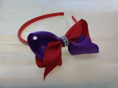 Red and Purple Headband-Clear REDF8