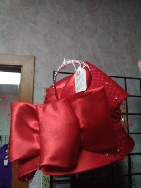 Fancy Red Satin Hat REDF34