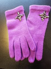 Purple Gloves with Stones PURGL