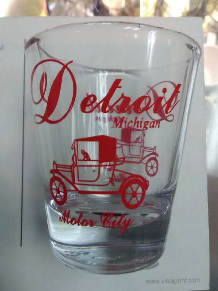 Detroit Car Shot Glass #DC1