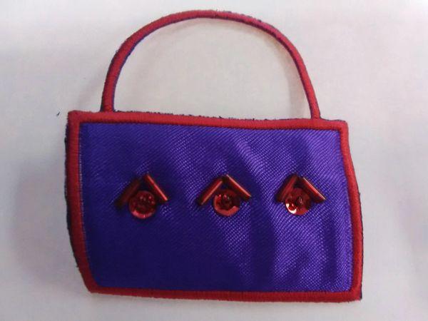 Purple w Red Purse PRP