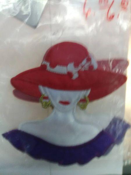Medium Lady in Dot Hat LDH