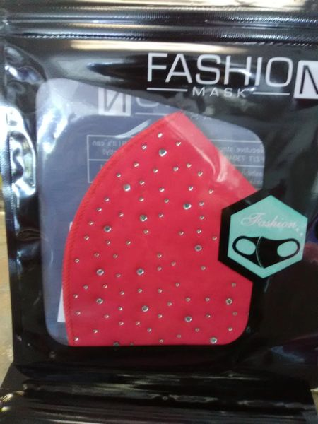B8 Red Bling Mask B8