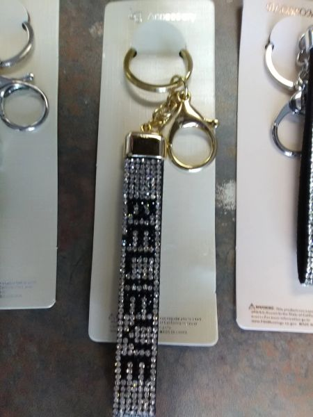 Clear Bling Believe Gold Keychain CBBGK
