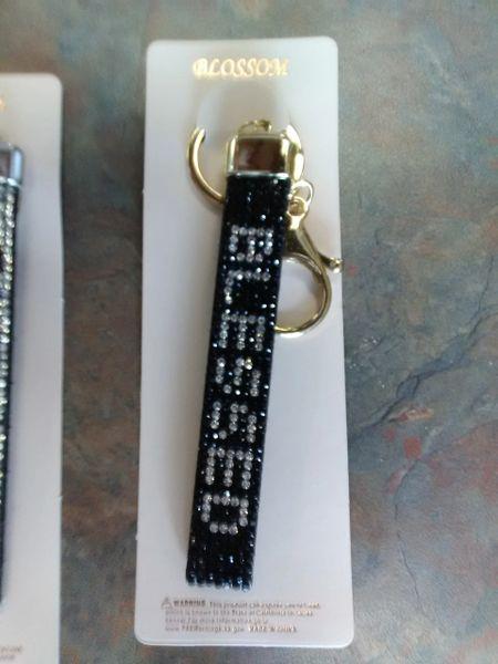Black Blessed Bling Gold Keychain BBBGK