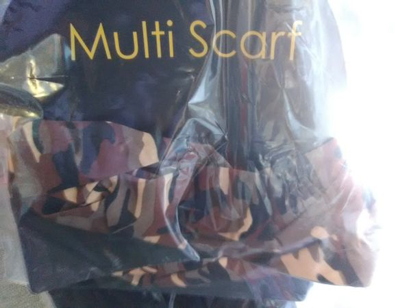 Brown Camo Scarf Mask BCSM