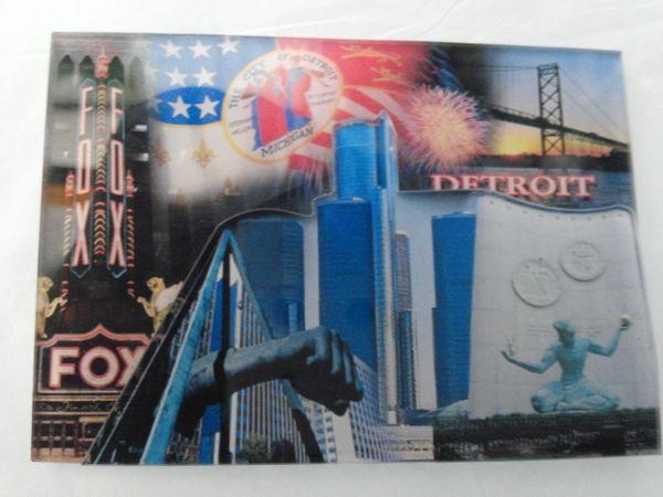 Detroit 3D Magnet 1427