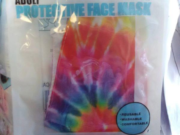 Multi Color Tie Dye Mask MCTD